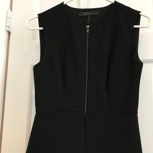 BCBG Maxazria black sleeveless zip top